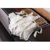 Avental de Cozinha Jolitex Floral/Xadrez Rosa