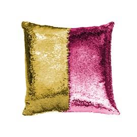 Capa de Almofada Paetê Rozac Pink/Dourado