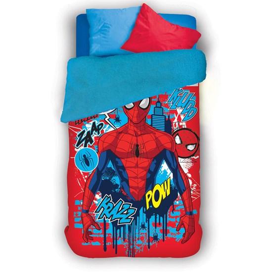 Coberdrom Solteiro Fleece Dupla Face Lepper Spider Man