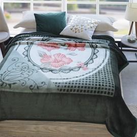 Cobertor Casal Jolitex Dyuri Extra Macio Belo Jardim Verde
