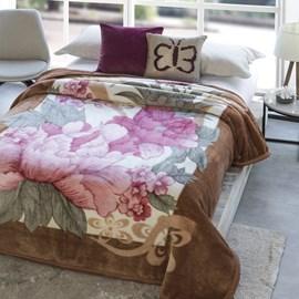 Cobertor Casal Jolitex Dyuri Extra Macio Caminho Florido Castor