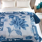 Cobertor Casal Kyor Plus Malbec Azul Jolitex Ternille