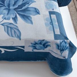 Cobertor Casal Kyor Plus Malbec Azul na Cinta Jolitex Ternille