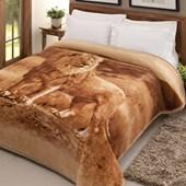 Cobertor Casal Tradicional Pêlo Alto Leão Jolitex Ternille