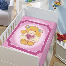 Cobertor de Berço Jolitex Eu Amo Mamy Rosa