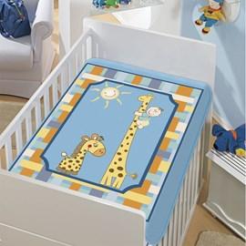 Cobertor de Berço Jolitex Girafinhas Azul