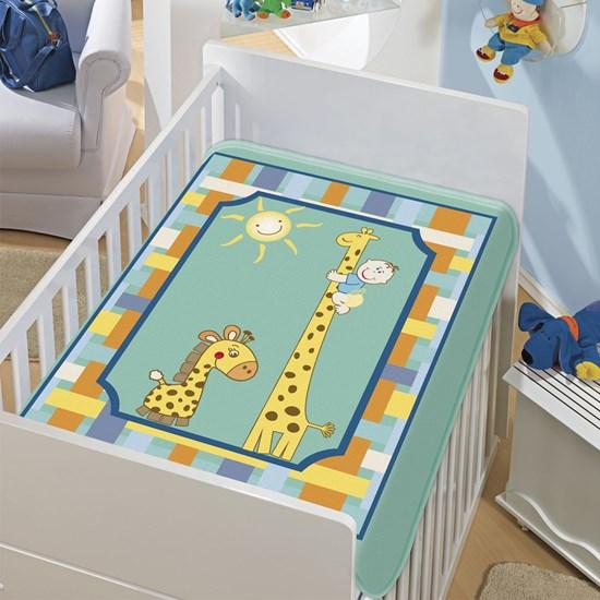 Cobertor de Berço Jolitex Girafinhas Verde