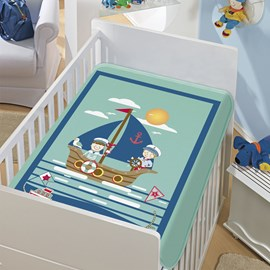 Cobertor de Berço Jolitex Os Marinheiros Verde