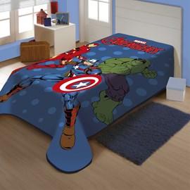 Cobertor Juvenil Raschel Avengers em Ação Jolitex Ternille