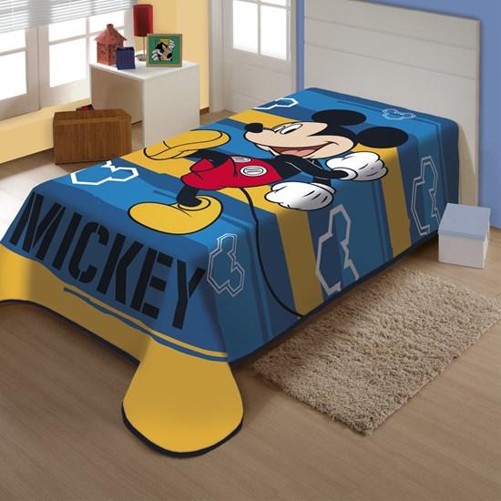 Cobertor Juvenil Raschel Mickey Feliz Jolitex Ternille