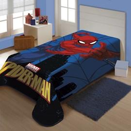 Cobertor Juvenil Raschel Spider-Man Cidade Jolitex Ternille