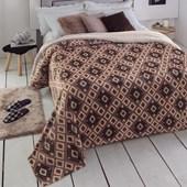 Cobertor King Size Dupla Face com Sherpa Soft Austin Jolitex Ternille