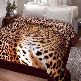 Cobertor Kyor Plus Casal Jolitex Leopardo