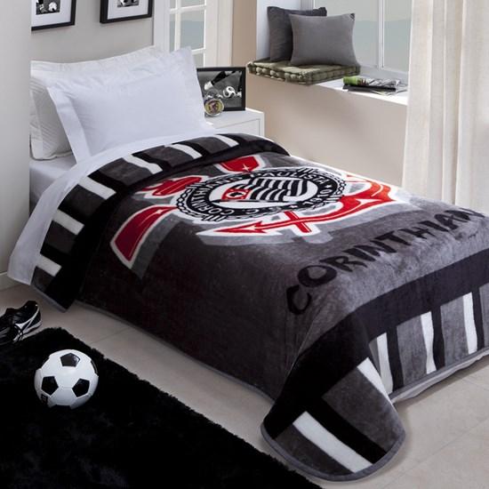 60d670aa41 Cobertor Solteiro Corttex Corinthians - LepinEnxovais