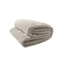 Cobertor Solteiro Microfibra Velour Neo Camesa Bege Claro