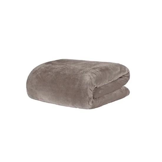 Cobertor Solteiro Microfibra Velour Neo Camesa Marrom