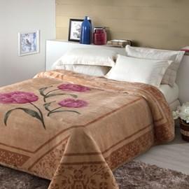 Cobertor Tradicional Casal Jolitex Tulipas Pêlo Alto