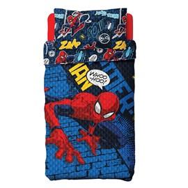 Colcha Boutis Solteiro Infantil Spider-Man Lepper