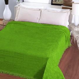 Colcha Casal Chenille Canelada Jolitex Verde