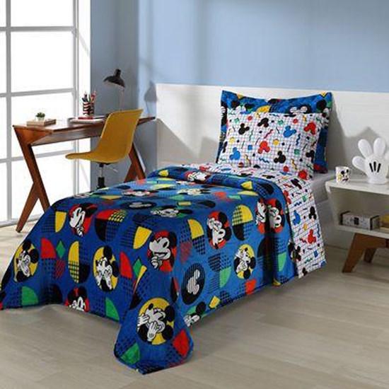 Colcha Infantil Matelassê Solteiro Andreza Disney Mickey Pop