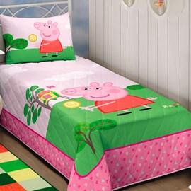 Colcha Infantil Matelassê Solteiro Peppa Pig Lepper
