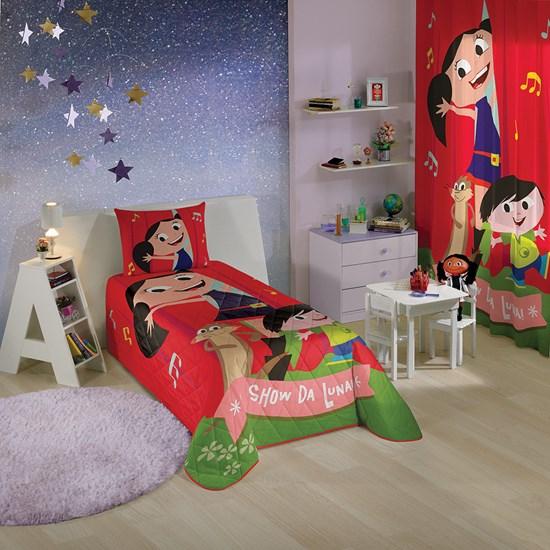 Colcha Infantil Matelassê Solteiro Show da Luna Lepper