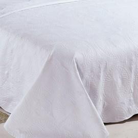 Colcha Solteiro Camesa Trapunto Branco 2 Peças