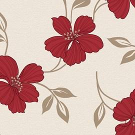 Cortina Corta Luz Estampada 3,00m X 2,50m Bella Janela Floral Vermelho