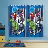 Cortina Infantil Avengers 3,00 x 1,80 Lepper (Varão 2m)
