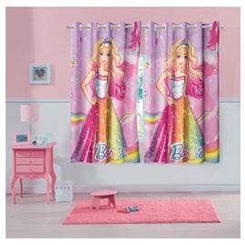 Cortina Infantil Barbie Reinos Mágicos 3,00 x 1,80 Lepper (Varão 2m)
