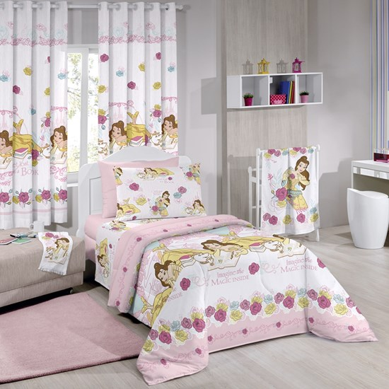 Cortina Infantil Decorativa Bela Magic Disney 2,00m X 1,80m Santista