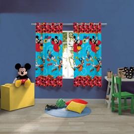 Cortina Infantil Mickey e Amigos 2,00m x 1,80m Lepper