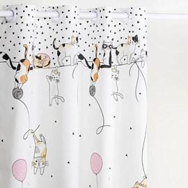Cortina Infantil Santista Basic 2,00m x 1,80m Cats