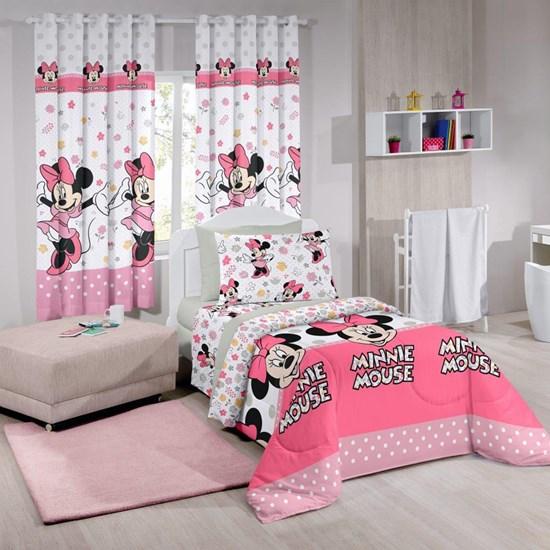 Cortina Infantil Santista Basic 2,00m x 1,80m Minnie Happy
