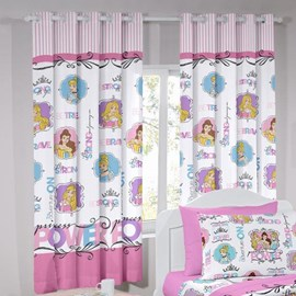 Cortina Infantil Santista Basic 2,00m x 1,80m Princess Power