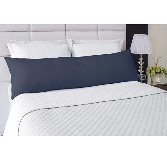 Fronha Avulsa Para Travesseiro de Corpo Abraço Colors Lavive Azul Petróleo