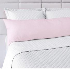Fronha Avulsa Para Travesseiro de Corpo Abraço Colors Lavive Rosa Claro