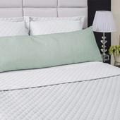 Fronha Avulsa Para Travesseiro de Corpo Abraço Colors Lavive Verde Malva
