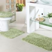 Jogo de Banheiro Oásis Classic Verde 3 peças