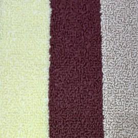 Jogo de Banheiro Rubi Bege/Amarelo/Marrom 3 Peças