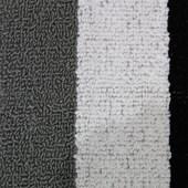Jogo de Banheiro Rubi Preto/Branco/Cinza 3 Peças