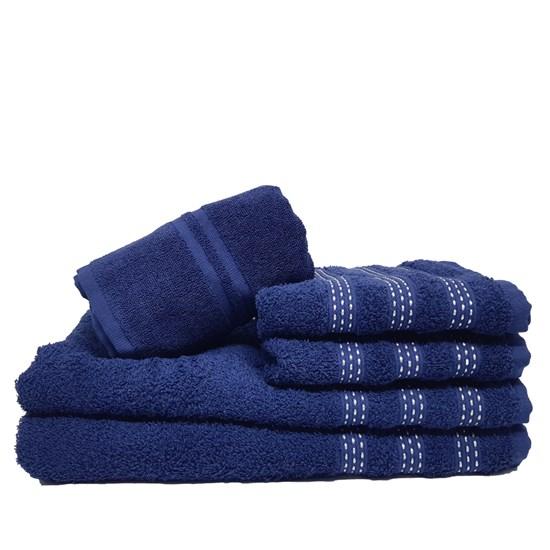 Jogo de Banho 5 Peças Karsten Marcel Azul Marinho