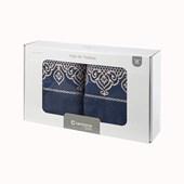 Jogo de Banho Barroca Azul Marinho Caviquioli 5 Peças