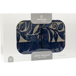 Jogo de Banho Gigante Lyon Azul Marinho Caviquioli 5 Peças