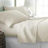 Jogo de Cama Casal 600 fios Corttex Home Design Marfim