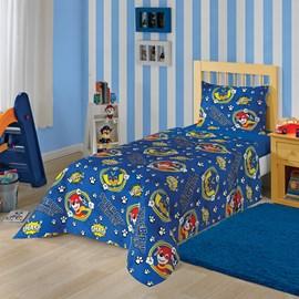 Jogo de Cama Infantil Patrulha Canina Azul Lepper 3 Peças
