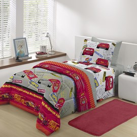 Jogo de cama Infantil Solteiro Carros Disney Santista