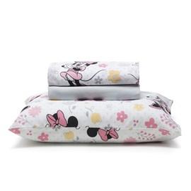8cf25832a0 Jogo de cama Infantil Solteiro Minnie Disney Santista ...