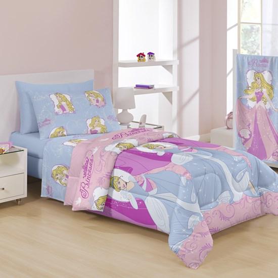 aee5486118 Jogo de cama Infantil Solteiro Princesas Disney Santista