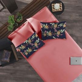 Jogo de Cama King Portallar Passion/Rosa Flamingo 3 peças